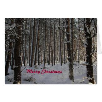 Weihnachtskarte mit frohen Weihnachten Karte