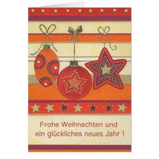 Weihnachtskarte mit Kugeln Karte