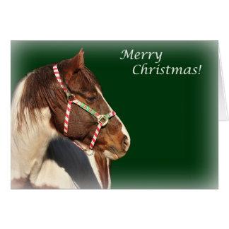 Weihnachtskarte mit Pferd Grußkarte