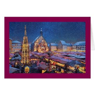 """Weihnachtskarte Pauls McGehee """"Christkindlesmarkt"""" Grußkarte"""
