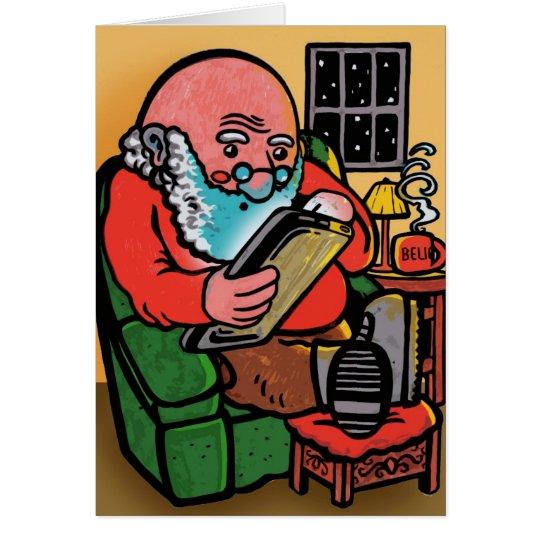 Weihnachtskarte Sankt Ipad Grußkarte