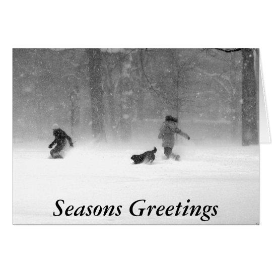 Weihnachtskarte Washington-Quadrat-II Grußkarte