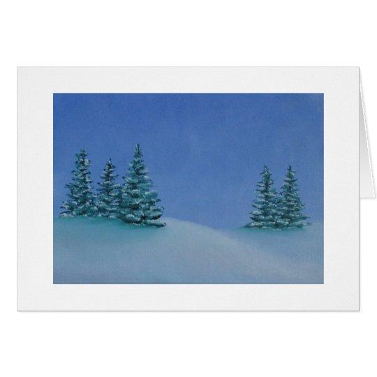 Weihnachtskarte - Winter-Glühen Karte