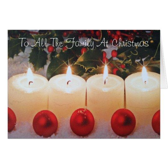 Weihnachtskarte, zur ganzer Familie Grußkarte