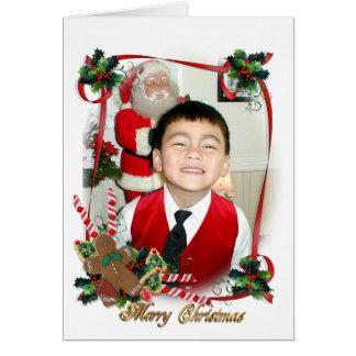 Weihnachtskarten-Fotorahmen Karte