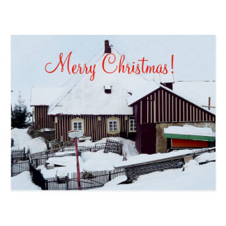 Weihnachtskarten-frohe Weihnachten Postkarte