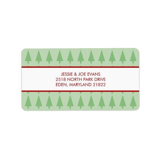 Weihnachtskarten-Postsendung-Adressen-Etiketten Adressaufkleber