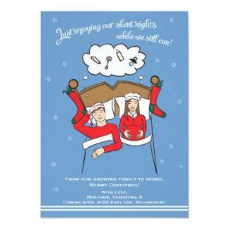 Weihnachtskarten-Schwangerschafts-Mitteilung 12,7 X 17,8 Cm Einladungskarte