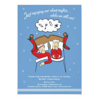 Weihnachtskarten-Schwangerschafts-Mitteilung - 12,7 X 17,8 Cm Einladungskarte