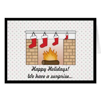 Weihnachtskarten-Schwangerschafts-Mitteilung Grußkarte