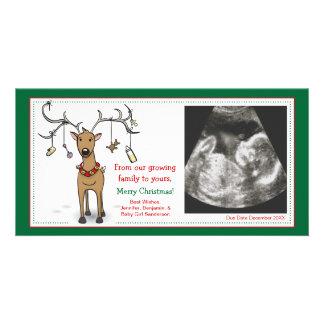 Weihnachtskarten-Schwangerschafts-Mitteilungs-Ren Karte