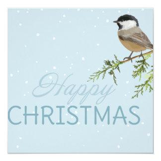 Weihnachtskarten-Vogel-Baumast Weihnachten Karte