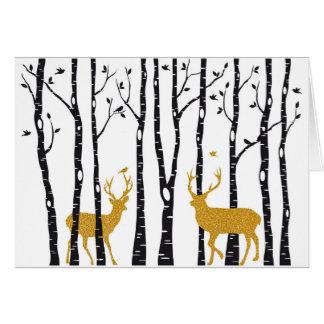 Weihnachtskartenespritren- und -birkenbäume grußkarte