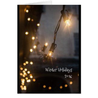 Weihnachtskartenlichter Grußkarte