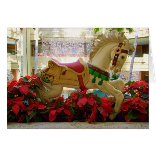 Weihnachtskarussell-Pferd - 1 Karte