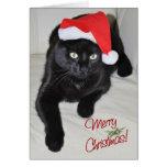 Weihnachtskatze #5 grußkarte