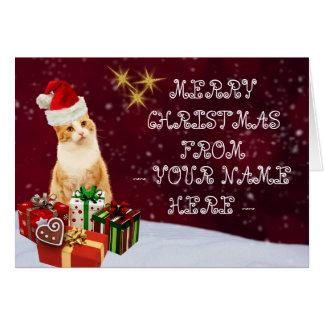 Weihnachtskatzen-kundengerechte Karte