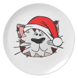 Weihnachtskatzen-Melamin-Platte Melaminteller