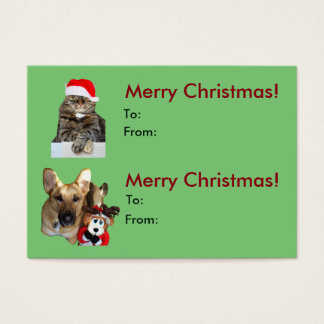 Weihnachtskatzen-u. Visitenkarte