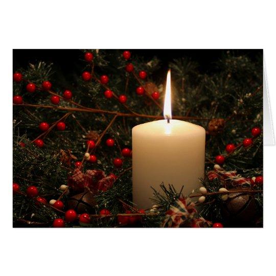 Weihnachtskerze 1 2014 mitteilungskarte