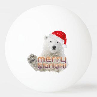 WeihnachtsKlingeln Pong Ball Sankt-Eisbär-| Beary Tischtennis Ball