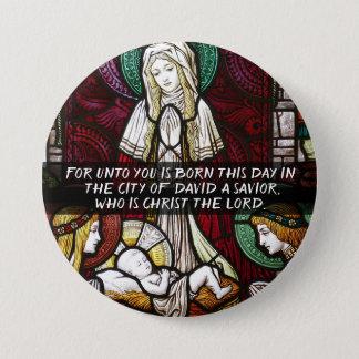 Weihnachtsknopf unser Retter-Jesus Christus Runder Button 7,6 Cm