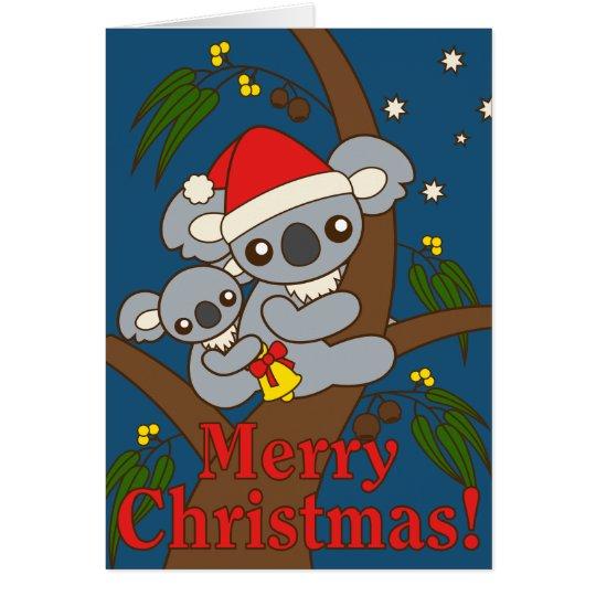 Weihnachtskoala Grußkarte