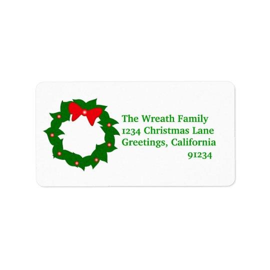 WeihnachtsKranz-Adressen-Etiketten Adressetiketten