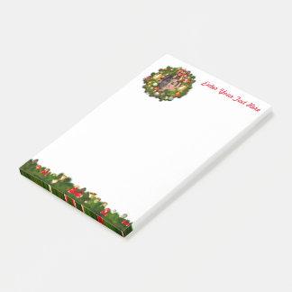 WeihnachtsKranz besonders angefertigt mit Ihrem Post-it Klebezettel