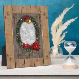 WeihnachtsKranz-Rahmen Fotoplatte