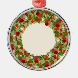 WeihnachtsKranz Silbernes Ornament