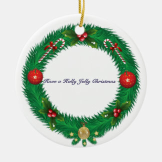 WeihnachtsKranz-Verzierung Keramik Ornament