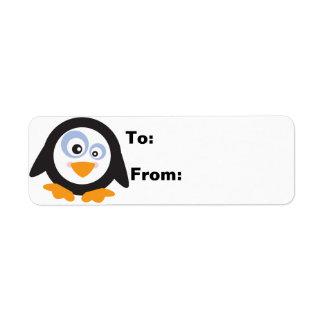 Weihnachtskreis des Pinguin-Geschenks Lables
