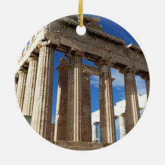 Weihnachtskreis-Verzierung Athens landschaftliche Keramik Ornament