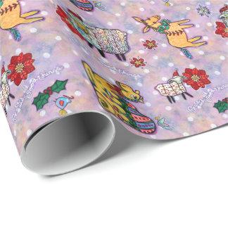 Weihnachtskrippen-Tier-Packpapier Geschenkpapier