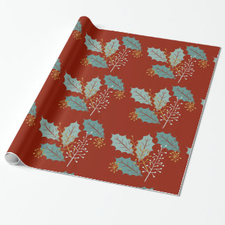 Weihnachtslaub-Feiertags-Packpapier Geschenkpapier