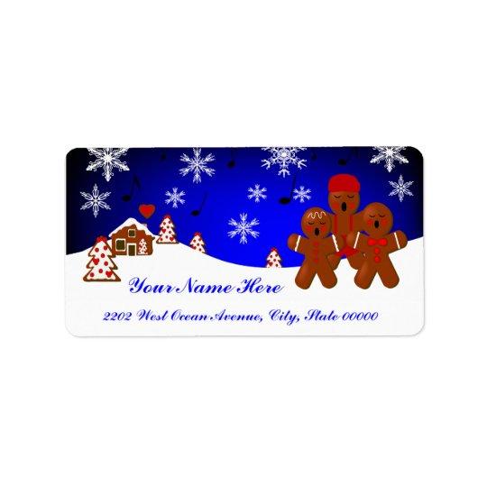 Weihnachtslebkuchen-Adressen-Etikett Adress Aufkleber