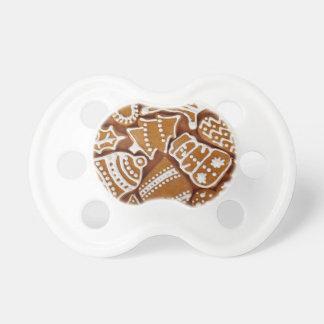 Weihnachtslebkuchen-Feiertags-Plätzchen Schnuller