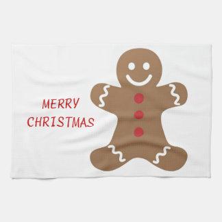 Weihnachtslebkuchen-Mann Handtücher
