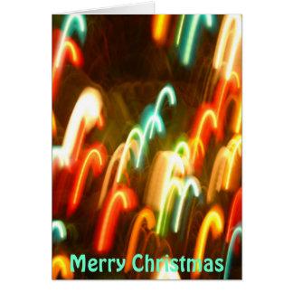 Weihnachtslicht-Zuckerstange Karte