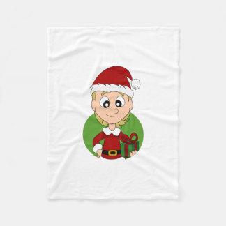 Weihnachtsmädchen-Cartoon Fleecedecke