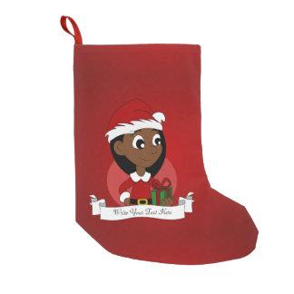 Weihnachtsmädchen-Cartoon Kleiner Weihnachtsstrumpf