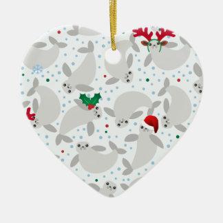 Weihnachtsmanatis Keramik Ornament