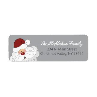 Weihnachtsmann-Adressen-Etiketten