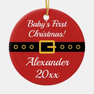 Weihnachtsmann-Baumverzierung des Babys 1. Keramik Ornament