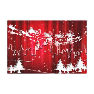 Weihnachtsmann bei der Arbeit Leinwanddruck