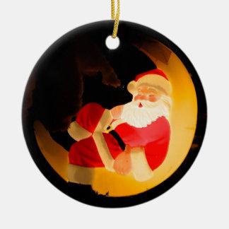 Weihnachtsmann, der auf Mond schläft Keramik Ornament