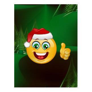 Weihnachtsmann emojis postkarte