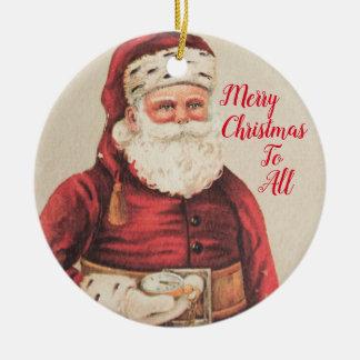 Weihnachtsmann-Feiertags-Verzierungen Keramik Ornament