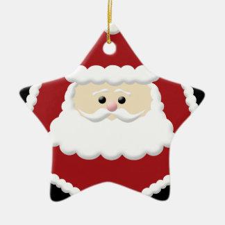 Weihnachtsmann-Foto-Rahmen-Verzierung Keramik Ornament
